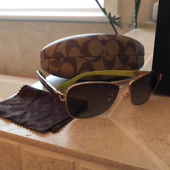 9ce52bf7535c Coach Caroline Aviator Sunglasses. M_5a3d57dea825a6020702661f